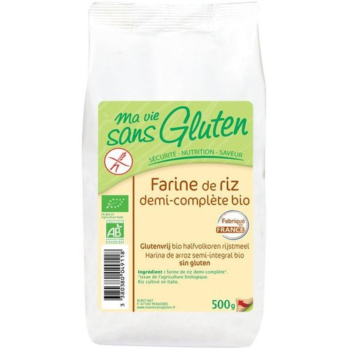 Ma Vie Sans Gluten Halfvolkoren Rijstmeel Biologisch