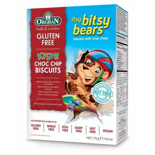 Orgran Itsy Bitsy Bears Choc Chip Biscuits
