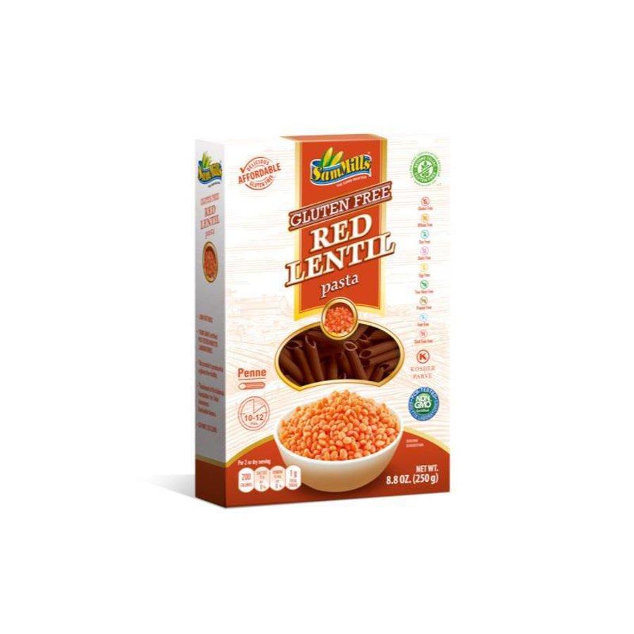 Rode Linzen Pasta