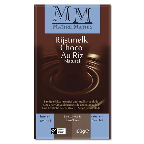 Mâtre Mathis Rijstmelk Chocolade Tablet Naturel