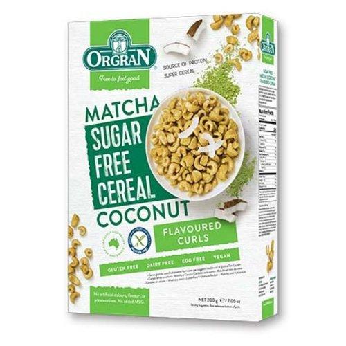 Orgran Sugar Free Cereal Matcha-Coconut
