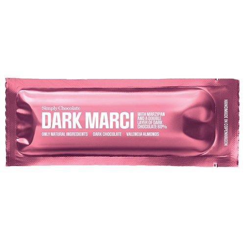 Simply Chocolate Dark Marci met Marsepein en 60% Dark Chocolade