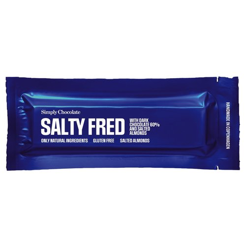 Simply Chocolate Salty Fred Gezouten Amandel Donkere Chocolade