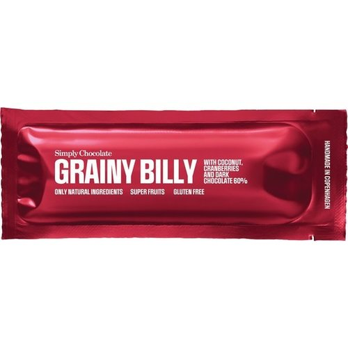 Simply Chocolate Grainy Billy Kokos Cranberrie