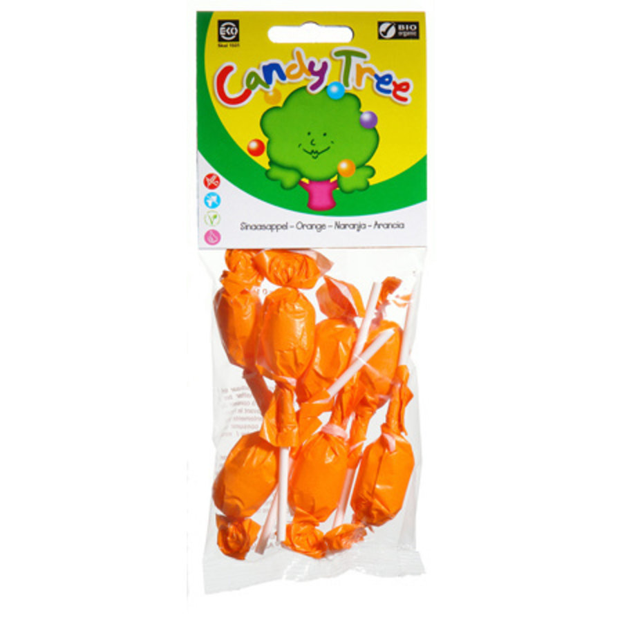 Sinaasappel Lollies Biologisch  (7stuks)