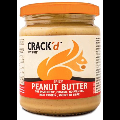 Crack'd Spicy Pindakaas Biologisch