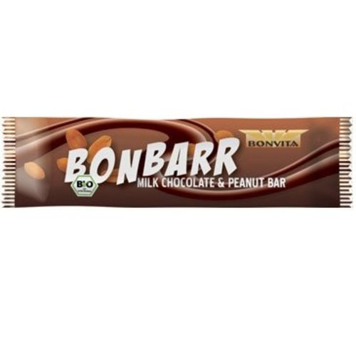 Bonvita Bonbarr Rijstmelk Chocolade en Pinda Biologisch