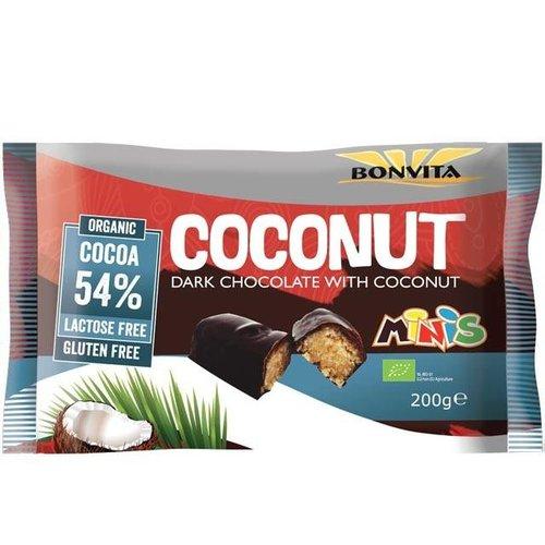 Bonvita Chocoladerepen Puur Kokos Mini's Biologisch