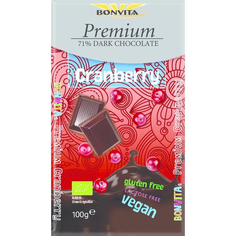 71% Pure Chocolade Cranberry Biologisch