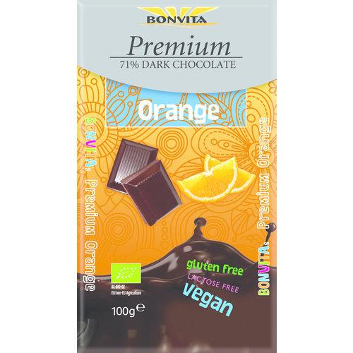 Bonvita 71% Pure Chocolade met Sinaasappel Biologisch