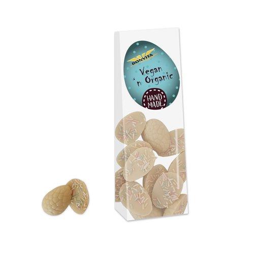 Bonvita Witte Chocolade Paaseitjes met Gekleurde Decoratie Bioloigsch