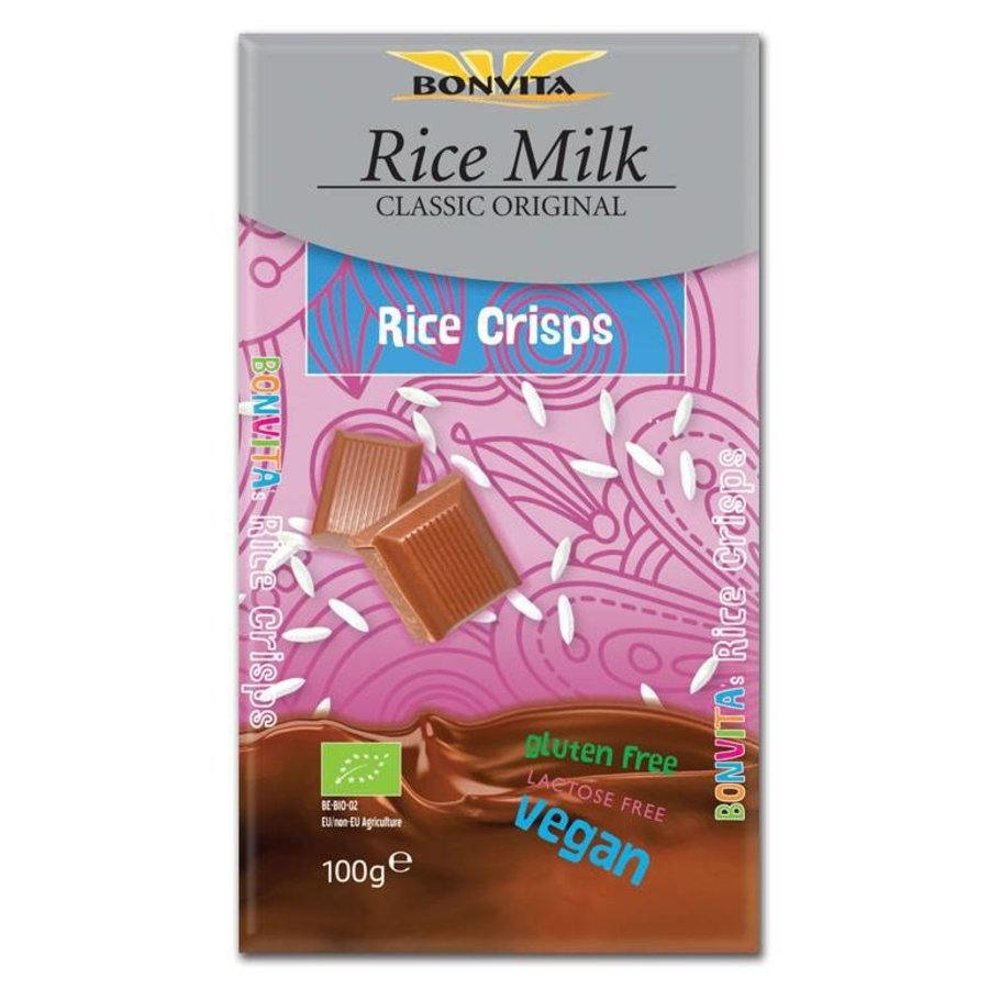 Rijstmelk Chocolade Rice Crisps Biologisch
