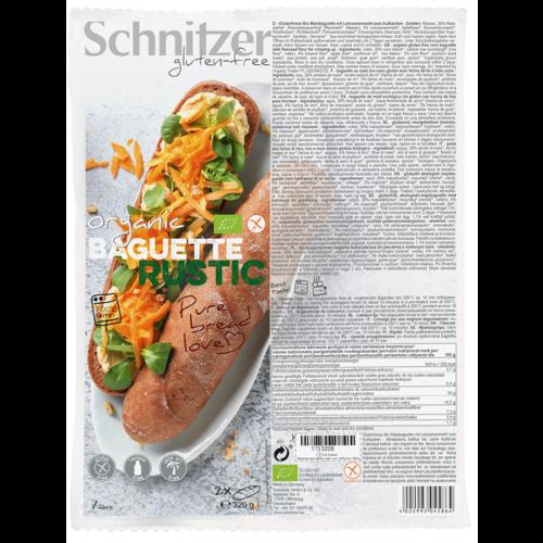 Schnitzer Baguette Rustic bake-off 2 Stuks Biologisch
