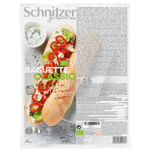 Schnitzer Baguette Classic Bake-off 2 Stuks Biologisch
