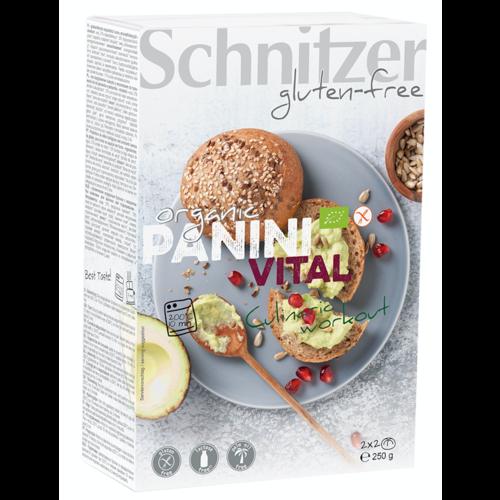 Schnitzer Panini Vital bake-off 4 Stuks Biologisch