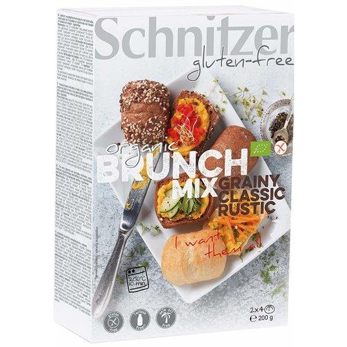 Schnitzer Brunch-mix gesorteerde Broodjes bake-off Biologisch
