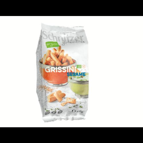 Schnitzer Grissini Sesam (mini soepstengels) Biologisch