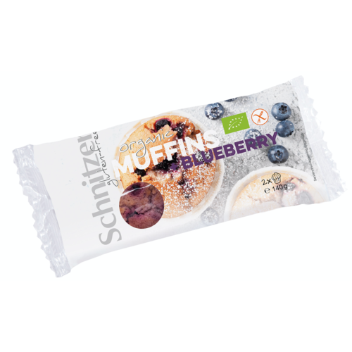 Schnitzer Muffin Bosbessen Biologisch 2 Stuks