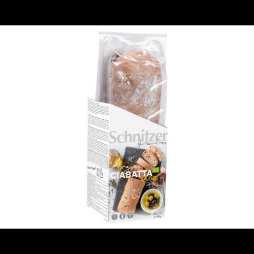 Schnitzer Ciabatta met Olijven Bake-off 2 Stuks Biologisch