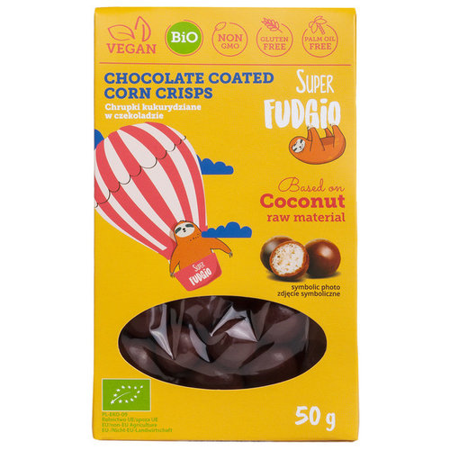 Super Fudgio Chocolade maïs crisps biologisch