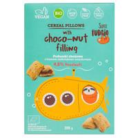 Cereal pillows met chocolade hazelnoot vulling Biologisch