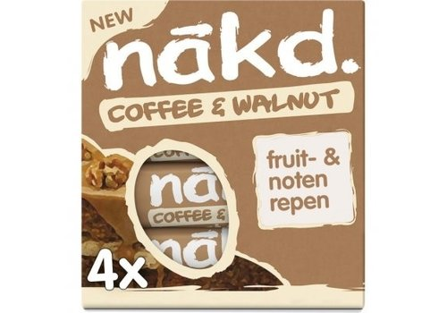 Nakd Coffee & Walnut Bar 4-pack