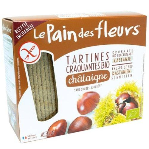 Le Pain des Fleurs Krokante Crackers Kastanje Biologisch