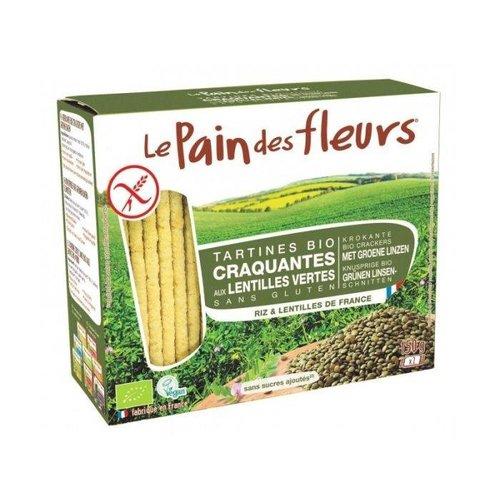 Le Pain des Fleurs Krokante Crackers Groene Linzen  Biologisch