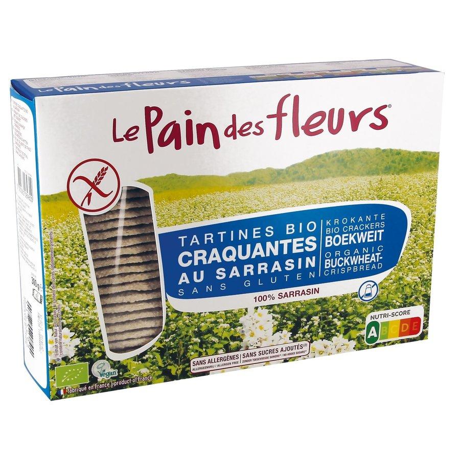 Krokante Crackers Boekweit zonder zout/suiker Grootverpakking Biologisch