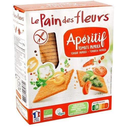 Le Pain des Fleurs Crackers Tomaat Paprika Biologisch