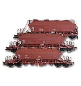 KUEHN MODELL Kuehn set van 3 Kaliwagens Uaoos 9331 | DR | Bruin