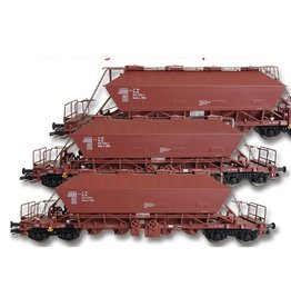 KUEHN MODELL Kuehn set van 3 Kaliwagens Uaoos 9331 | DBAG | Bruin