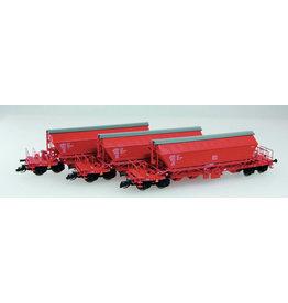 KUEHN MODELL Kuehn set van 3 Kaliwagens Taoos 9331 | DBAG | Rood