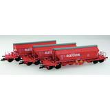 KUEHN MODELL Kuehn set van 3 Kaliwagens Taoos 9331   DB Railion   Rood
