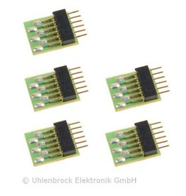 UHLENBROCK Uhlenbrock 71641 6-pin connection plug NEM651 (5 pieces)