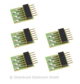 UHLENBROCK Uhlenbrock 71641 6-pins aansluitstekker NEM651 (5 stuks)
