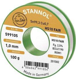 Stannol Solder Tin 100gr 1.0mm Sn99.3CU0.7