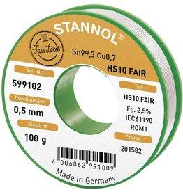 Stannol Solder Tin 100gr 0.5mm Sn99.3CU0.7