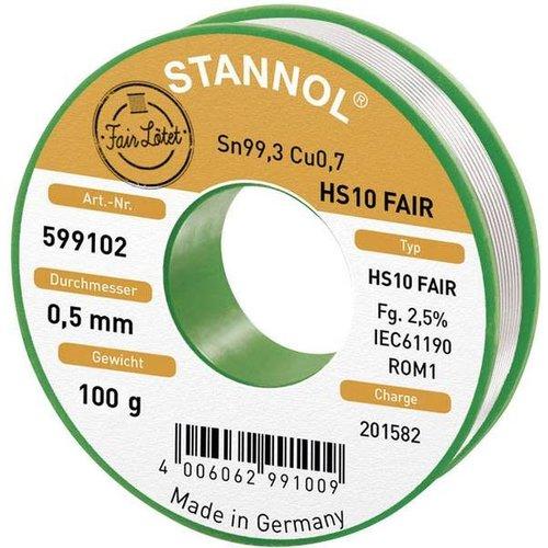 Stannol Soldeertin 100gr 0.5mm Sn99.3CU0.7