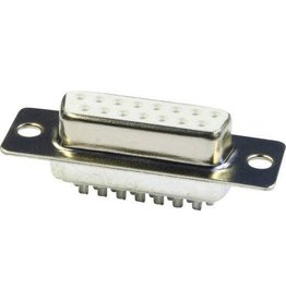 SUB-D Female solder connector 15-pin