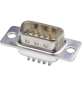 SUB-D Connector soldering male 15-pin male