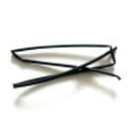 CELLPACK Heat shrink tubing black 1.6 / 0.8 per meter
