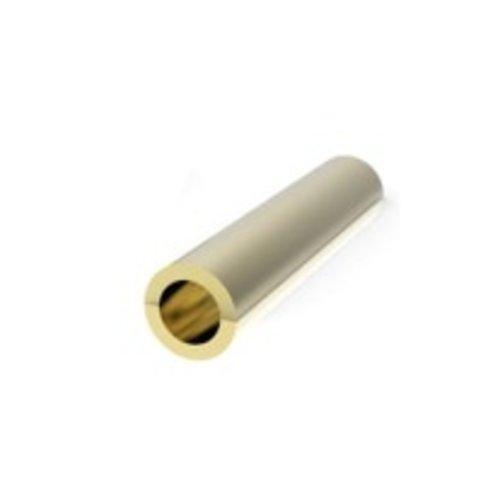 Messing adapter voor worm- en tandwielen 0,8 - 1,5 mm (pers passing)  AD0815PF