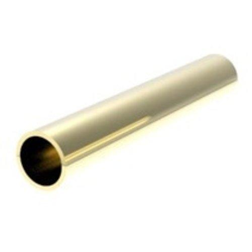Messing adapter voor worm- en tandwielen 1,0 - 1,2 mm (pers passing)  AD1012PF