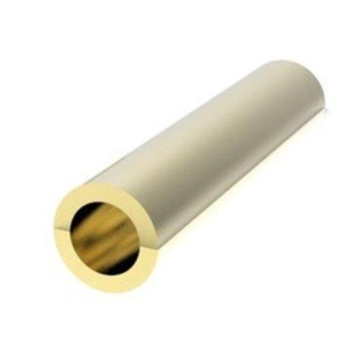Messing adapter voor worm- en tandwielen 1,0 - 1,5 mm (pers passing)  AD1015PF
