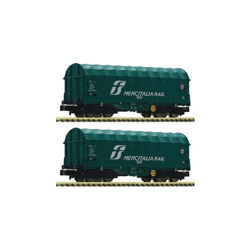 FLEISCHMANN 837928 2-delige set schuifzeilwagon, FS (N )