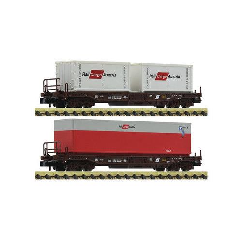 FLEISCHMANN 845377 2-delige set standaard Vrachtwagentrailerwagon, ÖBB (N )