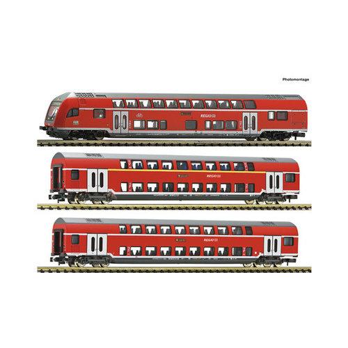 FLEISCHMANN 862810 3-delige set dubbeldeks rijtuigen, DB AG (N )