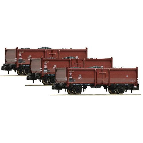 FLEISCHMANN Fleischmann 820530-3 stuks. Set: kolenwagen, type Omm52, DB