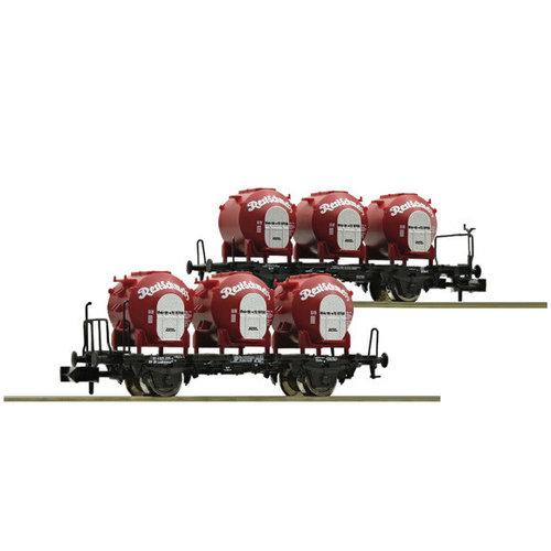 FLEISCHMANN 823302 2-delige set containertransportwagons ''ResiSchmelz'', DB (N )